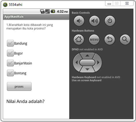 membuat aplikasi kuis android dengan eclipse afni munaisehe praktikum 2 cara membuat aplikasi kuis