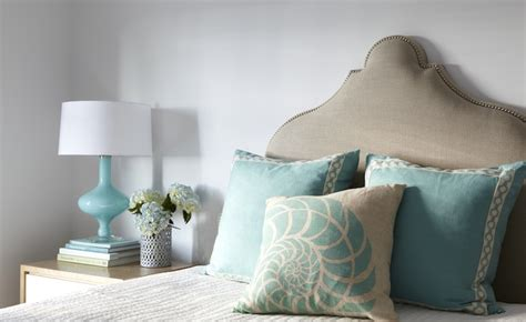turquoise lamp transitional bedroom tracery interiors