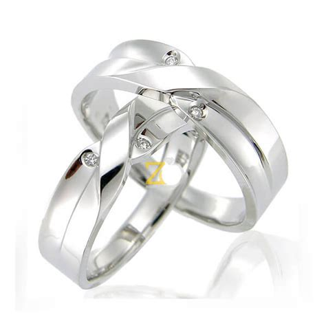 Cincin Kawin Cincin Tunangan Pernikahan Silver Lapis Emas Kombinasi model cincin kawin sheeva zlata silver