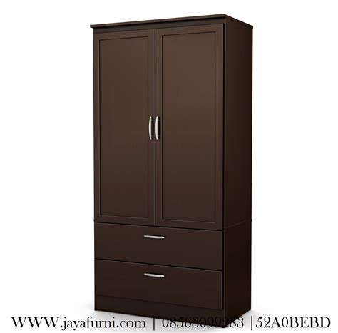 Lemari Pakaian Empat Pintu lemari pakaian jati minimalis 2 pintu jayafurni mebel
