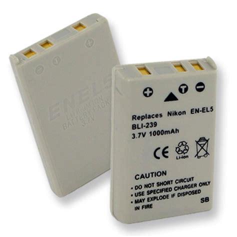 Battery Nikon En El5 By Invicom nikon en el5 replacement battery bli 239 camcorder