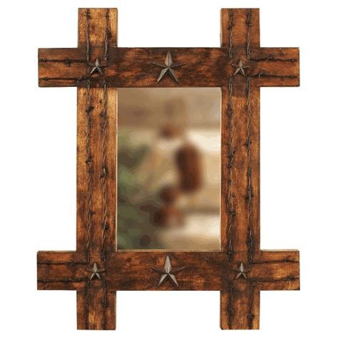western bathroom mirrors lone star rustic mirror
