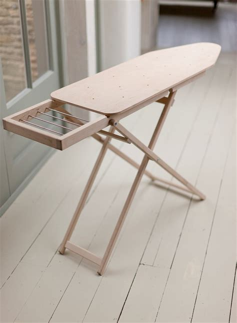 A Perfectly Proportioned Solid Wooden Ironing Board Laundry Ironing Board