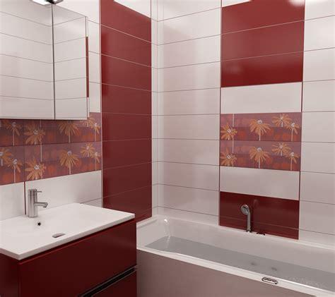 badezimmer 2 x 3 bilder 3d interieur badezimmer rot wei 223 val baie 2