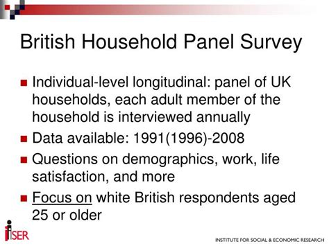 Panel Survey - ppt the effect of diversity on wellbeing work in