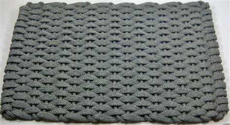 Woven Floor Mats by Rockport Rope Gray Woven Usa Made Kitchen Floor Mat