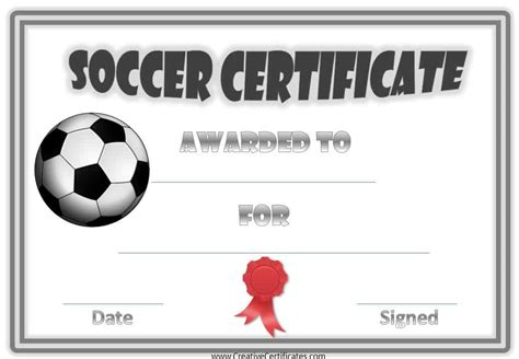 Soccer Award Certificate Templates Free Free Editable Soccer Certificates Customize Online Instant Download