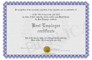 best employee certificate template best employee certificate