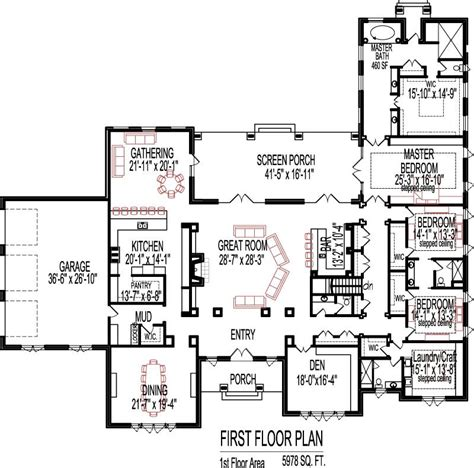 6000 sq ft home plans 5 bedroom house plans open floor plan designs 6000 sq ft