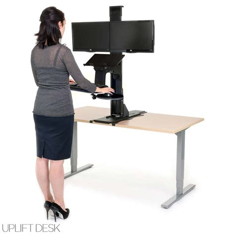 convert desk to standing workstation sofa furniture kitchen convert desk to standing desk