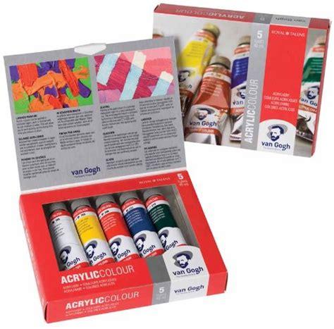 Gogh Acrylic Colour Basic Set 10x40ml gogh acrylic colour basic paint set 5 x 40ml artscape