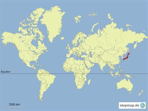 japan welt japan auf weltkarte g hoffrichter landkarte f 252 r die welt