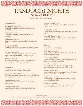 Indian Menu Indian Menu Template South Indian Menus Musthavemenus Indian Menu Template Free