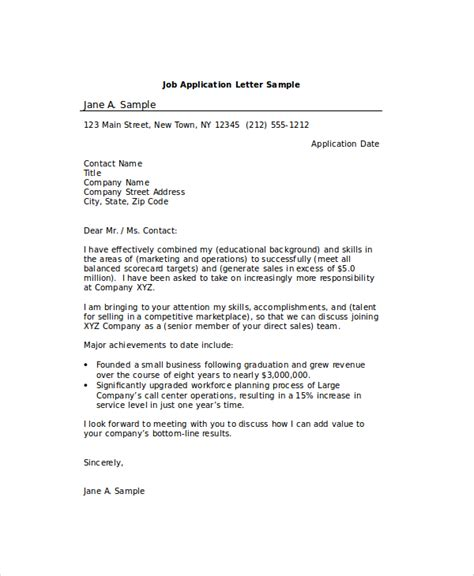 Application Letter Exles For Pdf Sle Application Letter 18 Exles In Pdf Word
