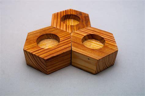 tea light holders hex tea light holders 171 hog island woodcraft