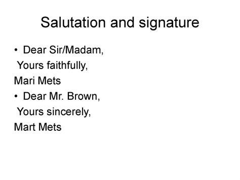 letter dear sir madam yours faithfully letter of complaint presentation