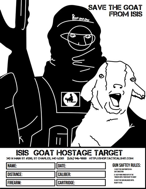 Printable Isis Targets | isis goat hostage target the weapon blog