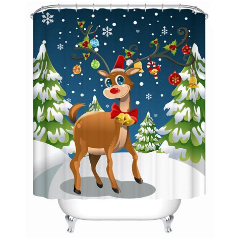 discount christmas shower curtains online get cheap christmas bathroom shower curtains