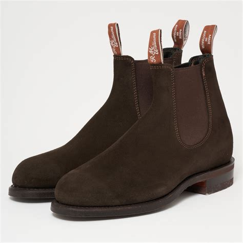 rm williams uk store brown suede chelsea boots