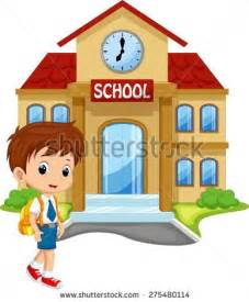 I Go From House To House Coming Home From School Clipart Clipground