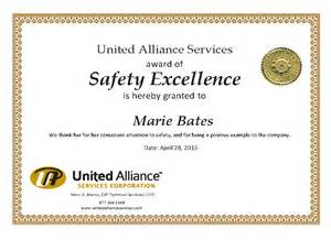 safety award certificate template search results for appreciation awards templates
