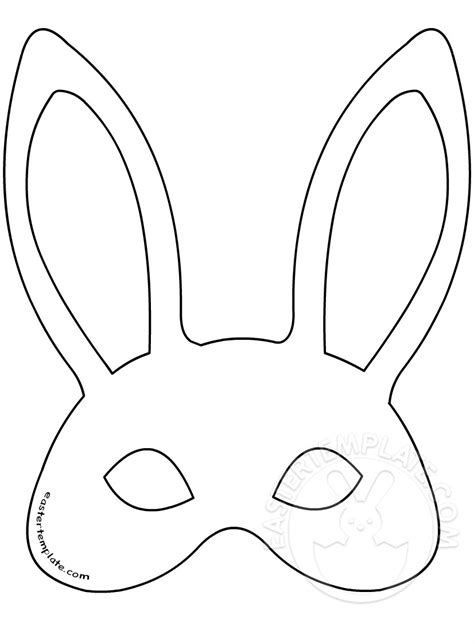 printable chick mask template easter bunny mask template easter template