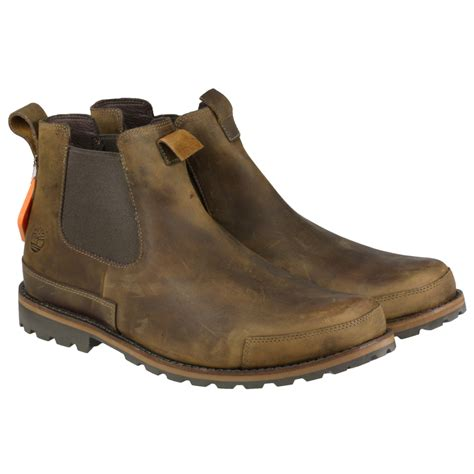 mens slip on boots mens timberland 74141 rugged brown slip on leather gusset