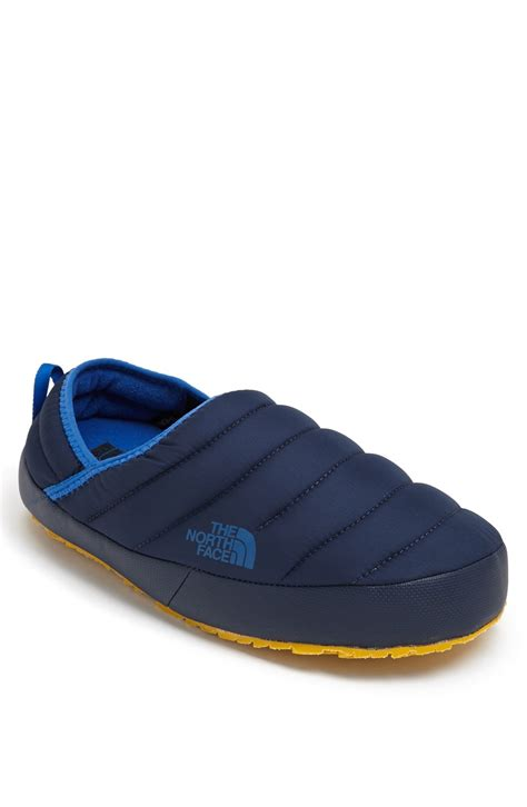 northface slippers the thermoball traction slipper in blue for