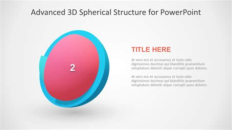 3 step spherical segmented diagram for powerpoint slidemodel 3d model segmented powerpoint templates slidemodel