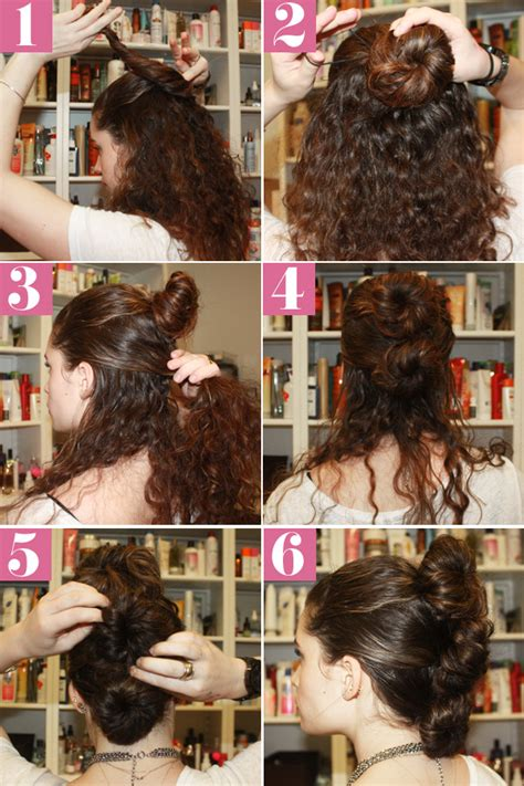 hairstyles for curly hair step by step easy hairstyles step by step tutorials www imgkid com