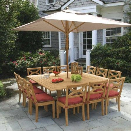 square patio table for 8 square outdoor dining table for 8 arbor wicker teak 8
