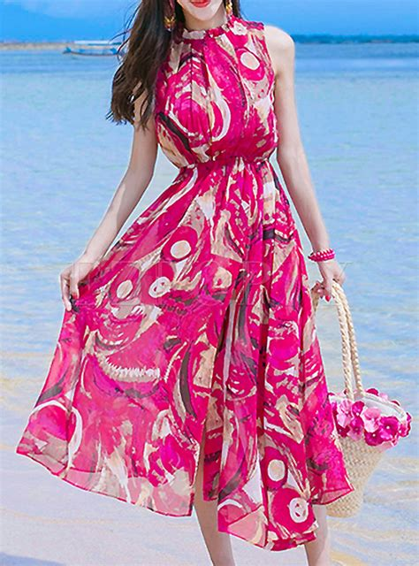 Ethnic Sleeveless Maxi Dress dresses maxi dresses ethnic floral print sleeveless