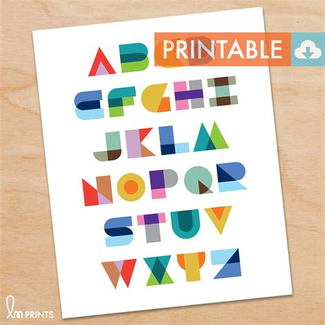 printable montessori geometric alphabet waldorf montessori printable diy print