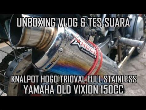 Knalpot M4 Halfblue unboxingvlog unboxing tes suara knalpot hogo trioval vixion