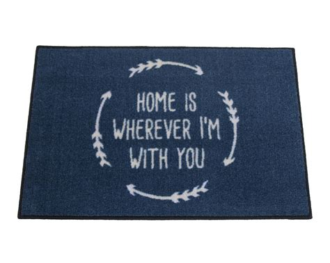 2 x 3 home is wherever i m with you welcome doormat
