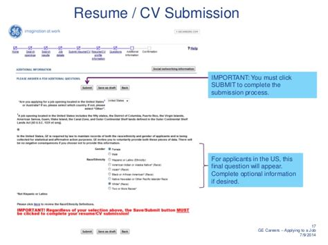 submit cv for how to apply for a at ge