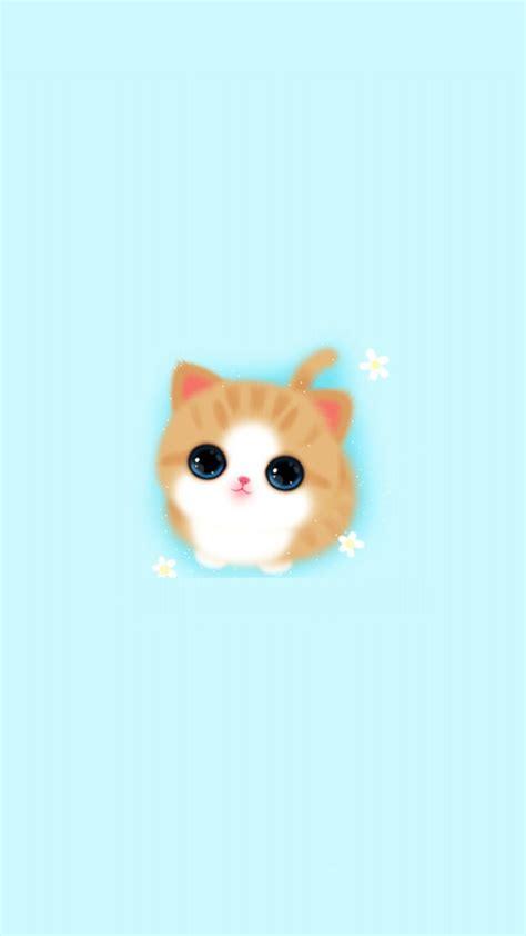 wallpaper iphone blue cute cute girly iphone wallpaper cat baby blue 2018 iphone