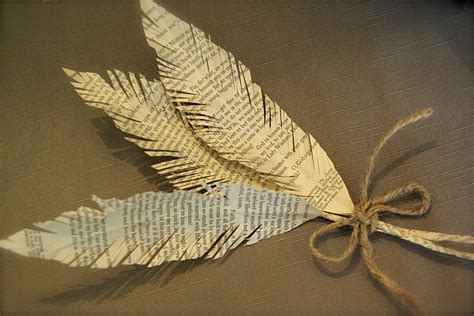 Feathers Out Of Paper - oleander and palm paper feathers