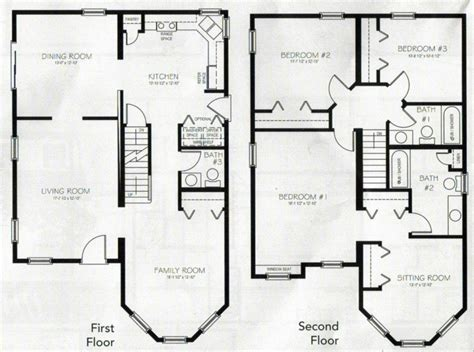 floor plans for 4 bedroom houses beautiful 4 bedroom 2 storey house plans new home plans design