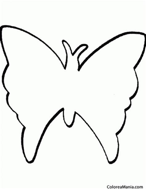 imagenes de mariposas siluetas colorear silueta mariposa insectos dibujo para colorear
