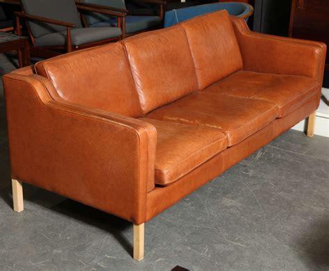 sofa cognac modern cognac leather 3 seater sofa at 1stdibs