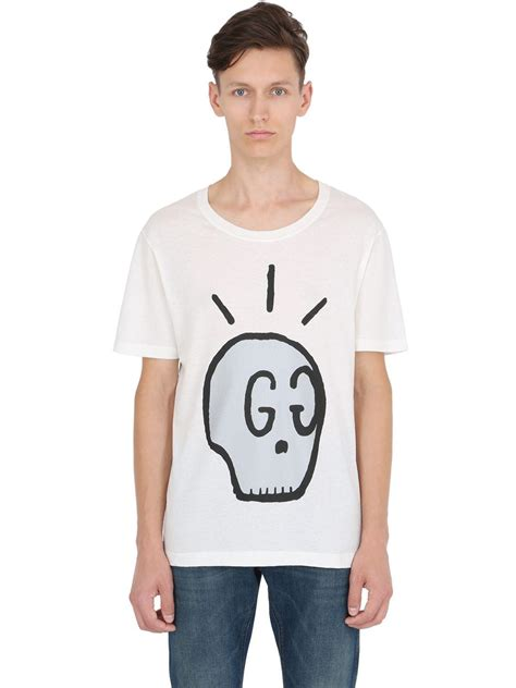 Im Prada Youre Nada Tshirt gucci skull printed cotton jersey t shirt in white for lyst