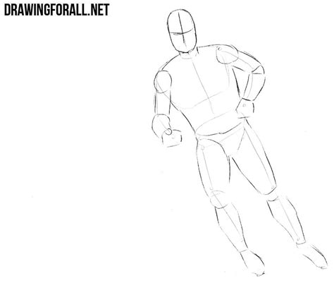 Drawing 2 Player by How To Draw A Hockey Player Drawingforall Net