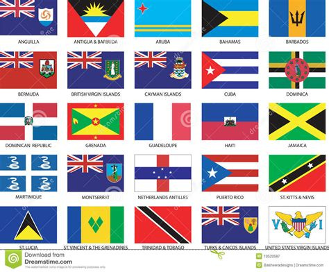 Forbes Names Their Web 25 List And Only 4 Of Them Are by Complete Set Of 25 Caribbean Flags Stock Vector