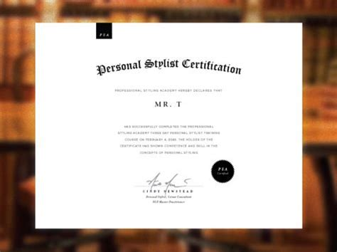 graphic design certificate uk professional styling academy certificate design