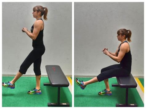 one leg squat on bench bodyweight balance workout redefining strength