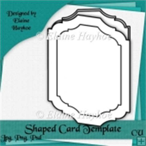 Fancy Card Shape Template by Template Instant Card Downloads