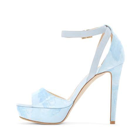 pale blue high heels light blue ankle sandals open toe platform high heel