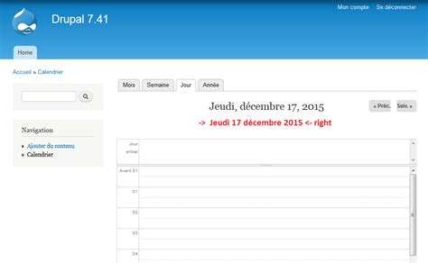 format date php drupal 7 bad date format in week and day calendar view in french