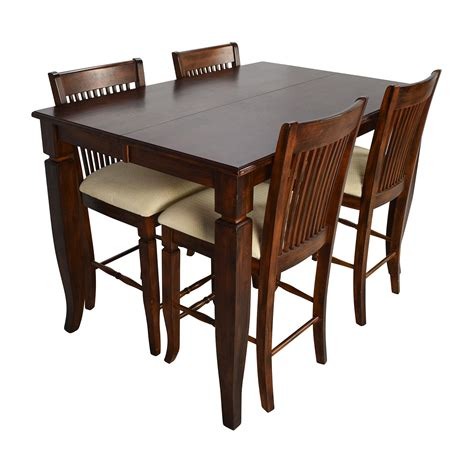 tall dining room table sets 75 off tall extendable dining room table set tables